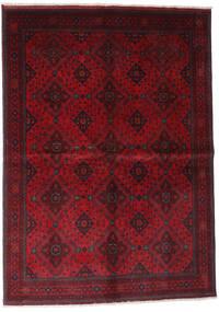 Afghan Khal Mohammadi Vloerkleed 168X232 Echt Oosters Handgeknoopt Donkerrood/Rood (Wol, Afghanistan)