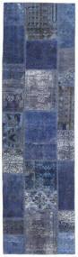 Patchwork - Persien/Iran Vloerkleed 73X253 Echt Modern Handgeknoopt Tapijtloper Donkerblauw/Licht Paars (Wol, Perzië/Iran)