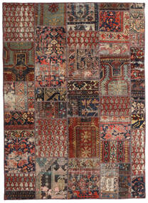 Patchwork - Persien/Iran Vloerkleed 144X201 Echt Modern Handgeknoopt Donkerrood/Donkerbruin/Lichtbruin (Wol, Perzië/Iran)