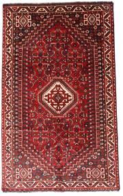 Shiraz Vloerkleed 156X248 Echt Oosters Handgeknoopt Donkerrood/Roestkleur (Wol, Perzië/Iran)