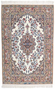 Isfahan Zijden Pool Getekend Intashari Vloerkleed 109X166 Echt Oosters Handgeknoopt Lichtgrijs/Wit/Creme (Wol/Zijde, Perzië/Iran)