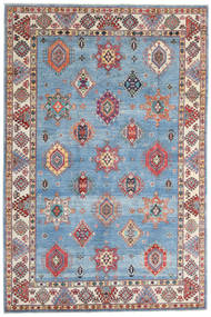 Kazak Vloerkleed 198X298 Echt Oosters Handgeknoopt Lichtblauw/Beige (Wol, Afghanistan)