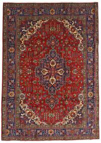 Tabriz Vloerkleed 240X333 Echt Oosters Handgeknoopt Donkerrood/Donkergrijs (Wol, Perzië/Iran)