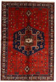 Afshar Vloerkleed 158X232 Echt Oosters Handgeknoopt Donkerrood/Roestkleur (Wol, Perzië/Iran)