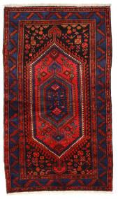 Zanjan Vloerkleed 135X236 Echt Oosters Handgeknoopt Donkerblauw/Donkerrood/Roestkleur (Wol, Perzië/Iran)
