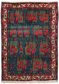 Afshar Vloerkleed 163X228 Echt Oosters Handgeknoopt Donkerrood/Donkerblauw/Donker Turkoois (Wol, Perzië/Iran)