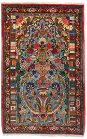 Bakhtiar Collectible Vloerkleed 103X158 Echt Oosters Handgeknoopt Donkerbruin/Donker Turkoois (Wol, Perzië/Iran)