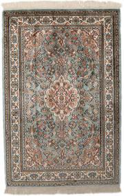 Kashmir Puur Zijde Vloerkleed 65X96 Echt Oosters Handgeknoopt Lichtgrijs/Donkergrijs (Zijde, India)