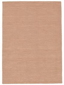 Kelim Loom - Dusty Rose Vloerkleed 160X230 Echt Modern Handgeweven Rood/Lichtroze (Wol, India)