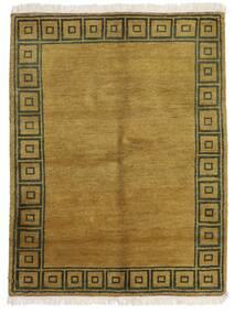 Gabbeh Indiaas Vloerkleed 143X186 Echt Modern Handgeknoopt Olijfgroen/Bruin (Wol, India)