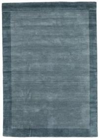 Handloom Frame - Petrol Blauw Vloerkleed 160X230 Modern Blauw (Wol, India)