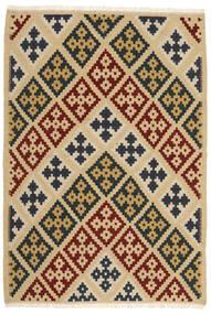 Kelim Vloerkleed 103X151 Echt Oosters Handgeweven Beige/Donkerbeige (Wol, Perzië/Iran)