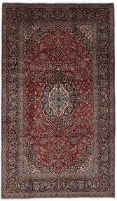 Keshan Vloerkleed 193X333 Echt Oosters Handgeknoopt Zwart/Donkerbruin (Wol, Perzië/Iran)