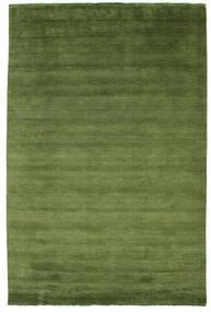 Handloom Fringes - Groen Vloerkleed 215X325 Modern Donkergroen/Zwart (Wol, India)