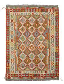 Kelim Afghan Old Style Vloerkleed 131X182 Echt Oosters Handgeweven Wit/Creme/Donkerbruin (Wol, Afghanistan)