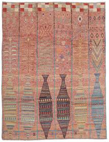 Moroccan Berber - Afghanistan Vloerkleed 213X281 Echt Modern Handgeknoopt Donkerrood (Wol, Afghanistan)