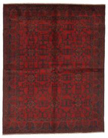 Afghan Khal Mohammadi Vloerkleed 177X225 Echt Oosters Handgeknoopt Zwart/Donkerrood (Wol, Afghanistan)