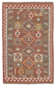 Kelim Afghan Old Style Vloerkleed 100X154 Echt Oosters Handgeweven Donkerbruin/Bruin (Wol, Afghanistan)