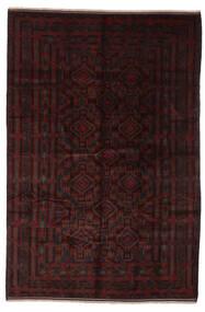 Beluch Vloerkleed 202X302 Echt Oosters Handgeknoopt Zwart (Wol, Afghanistan)