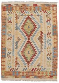 Kelim Afghan Old Style Vloerkleed 105X148 Echt Oosters Handgeweven Lichtbruin/Bruin/Donkerbruin (Wol, Afghanistan)