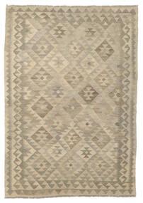 Kelim Afghan Old Style Vloerkleed 127X180 Echt Oosters Handgeweven Lichtbruin/Bruin (Wol, Afghanistan)