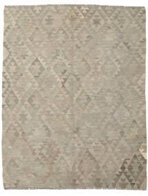 Kelim Afghan Old Style Vloerkleed 178X225 Echt Oosters Handgeweven Donkergrijs/Lichtbruin (Wol, Afghanistan)